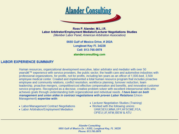 Alander Consulting Before