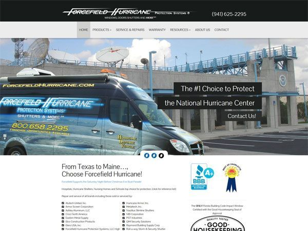 Forecefield Hurricane Landing Page
