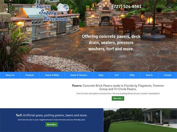 Paver Supply Warehouse Landing Page